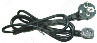 Кабель питания Gembird PC-186A-VDE угловой кабель питания gembird pc 186a vde евровилка угловой разъём 10а 1 8 м