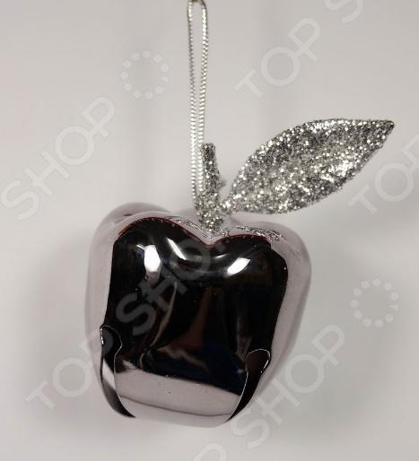 Новогоднее украшение Crystal Deco «Яблоко с блестками»