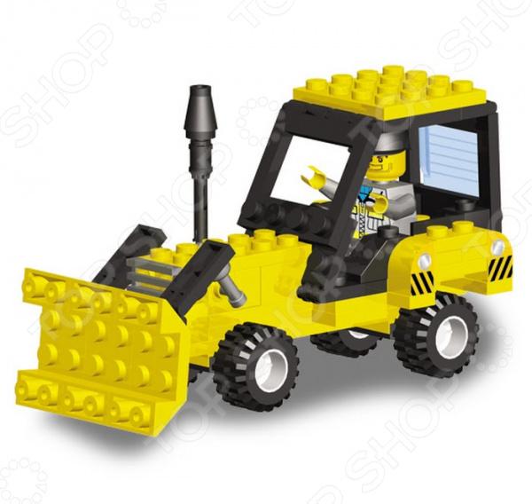 Конструктор игровой для ребенка SuperBlock Большая стройка. Трактор занимательная и развивающая игрушка. Помимо того, что ребенок весело будет проводить свободное время, он сможет развить некоторые свои навыки и узнать много нового. Благодаря конструктору, ваш малыш познакомиться с основами построения различных моделей. Сама конструкция выполнена из экологически чистого пластика и абсолютно безопасна для ребенка. Конструктор собирается в модель трактора из 98 деталей. При желании, вы можете помочь ребенку на начальном этапе знакомства с методом сборки. Также, в наборе есть подробная инструкция, с помощью которой дети легко смогут собрать модель строительной техники. Стоит также обратить внимание на то, что детали набора совместимы с конструкторами других марок, в том числе и со всем известным Lego. Приобретая конструктор вы приобретаете целый мир для развития фантазии и мелкой моторики! Продукт рекомендуется для игры детям от шести лет и старше. В наборе содержится очень много мелких деталей, которые дети помладше могут проглотить. Ваш ребенок, мальчик или девочка, с энтузиазмом примут нового друга в свои игры.