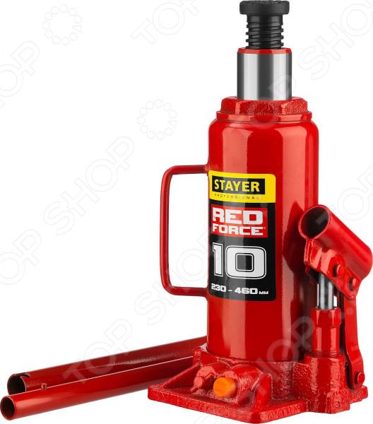 Домкрат гидравлический бутылочный Stayer RED FORCE