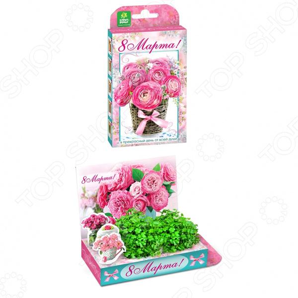 Набор подарочный для выращивания Happy Plants «Живая открытка: Букет роз» арт дизайн подарочный набор открытка с ручкой творческой личности