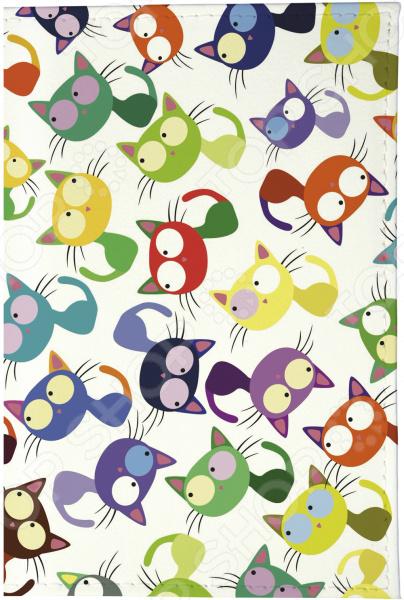 Визитница Mitya Veselkov «Цветные кошки - мешанина» стоимость