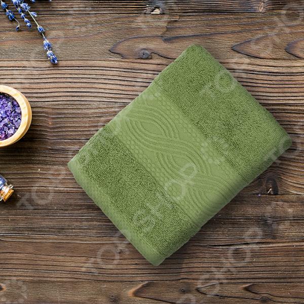 Полотенце махровое Унисон «Анкона». Цвет: светло-зеленый