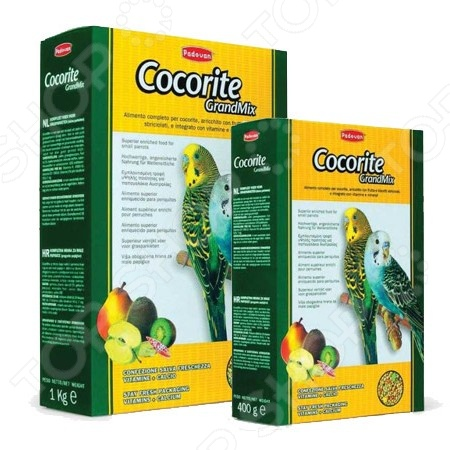 Корм для волнистых попугаев Padovan Grandmix Cocorite корм padovan natural mix cocorite для волнистых попугаев основной 1 кг