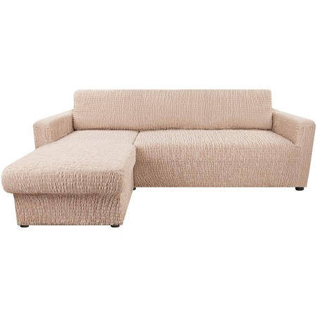 Купить Натяжной чехол на угловой диван с выступом слева Еврочехол «Сиена Венера»