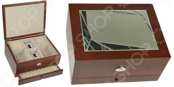Шкатулка для украшений Moretto мужская двухъярусная 139545