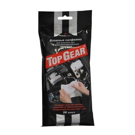 Купить Набор салфеток влажных для рук очищающих антибактериальных Авангард TG-48040 Top Gear