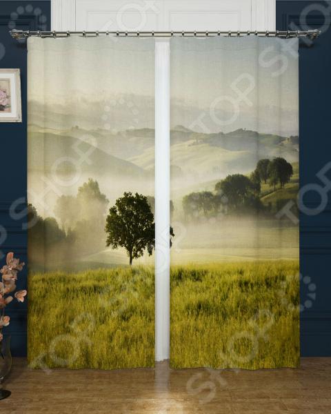 Фотошторы блэкаут Сирень «Туманное утро» утро туманное 30 x 45см