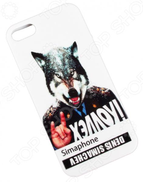 лучшая цена Чехол для iPhone 5/5S/SE Denis Simachev «Хэллоу»