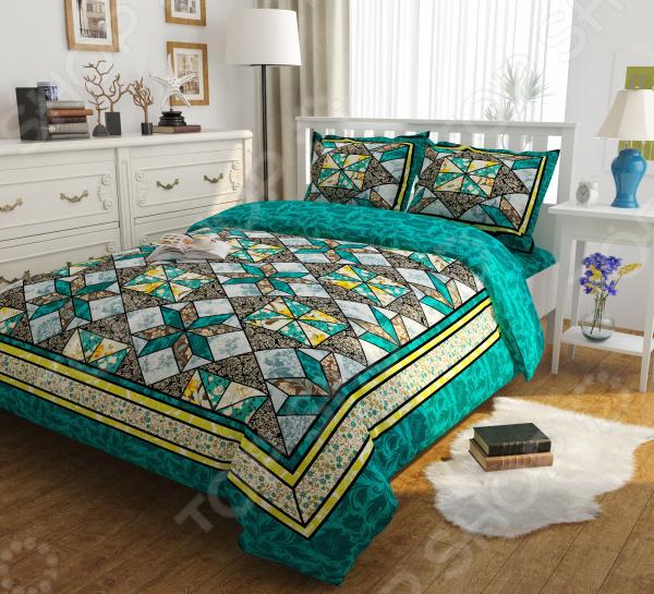Комплект постельного белья Сирень «Изумрудные сны»