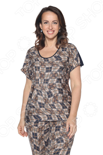 Блуза Лауме-Лайн «Упоительный момент». Цвет: темно-синий блуза лауме лайн сад чудес цвет темно синий