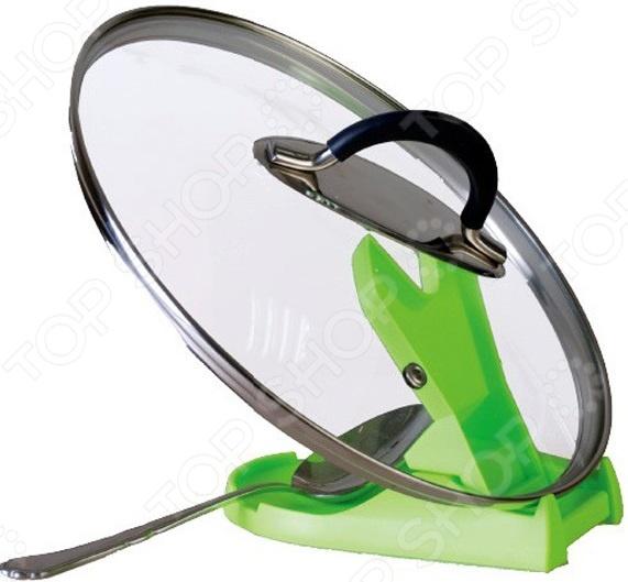 Держатель кухонных принадлежностей Bradex Spoon&Cover Stand stainless steel pan pot rack cover lid rest stand spoon holder home applicance