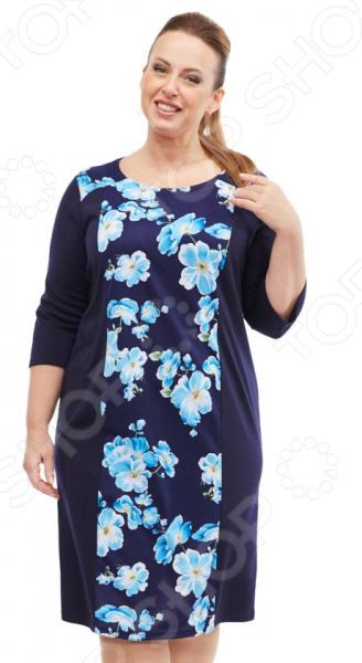 Платье Лауме-стиль «Райский сад». Цвет: голубой