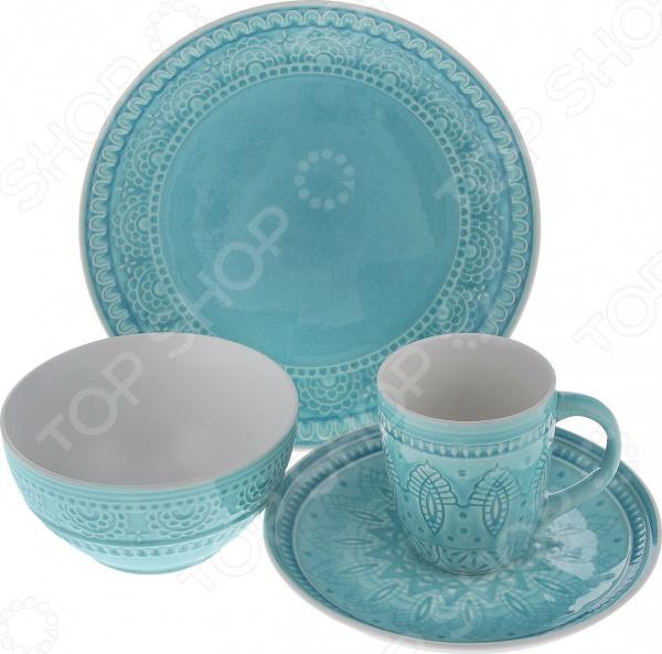 Набор: кружка, салатник и тарелки Tongo S-04