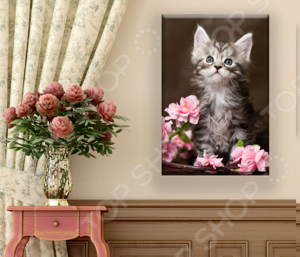 Картина ТамиТекс «Котенок и цветы» картина тамитекс собор