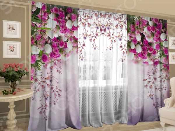 Комплект фотоштор с тюлем ТамиТекс «Баланс цветов»