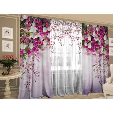 Купить Фотокомплект штор и тюля ТамиТекс «Баланс цветов»
