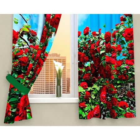 Купить Фотошторы Сирень «Кусты роз»