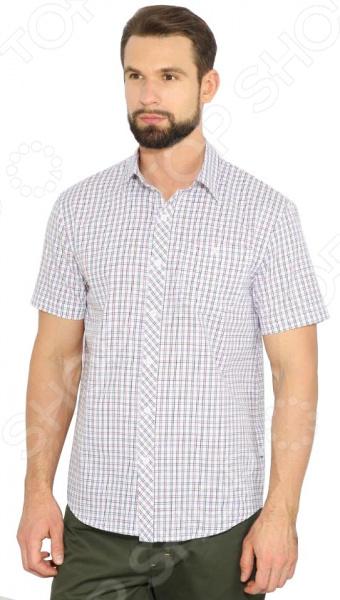Рубашка Finn Flare B17-42016. Цвет: алый
