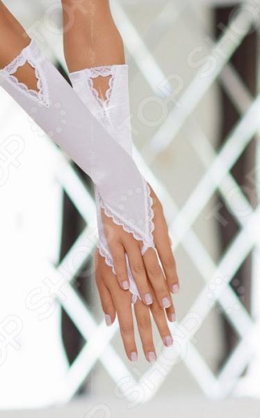 Перчатки декоративные атласные
