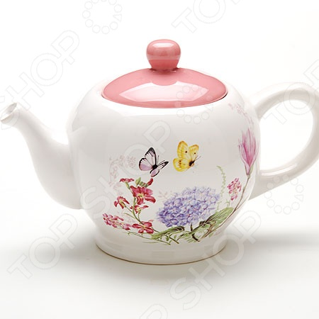 Чайник заварочный Loraine LR-25637 «Бабочки» чайник заварочный loraine lr 23768 0 7л белый с рисунком ромашки