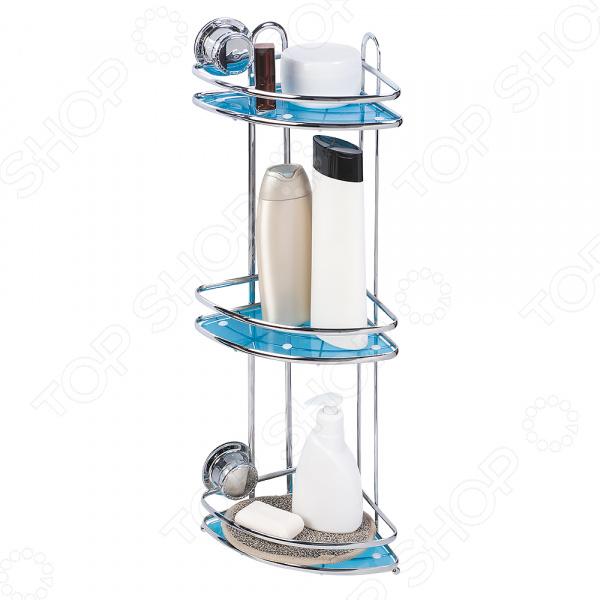 Полка для ванной угловая Tatkraft Vacuum Screw Conrad 3-х ярусная
