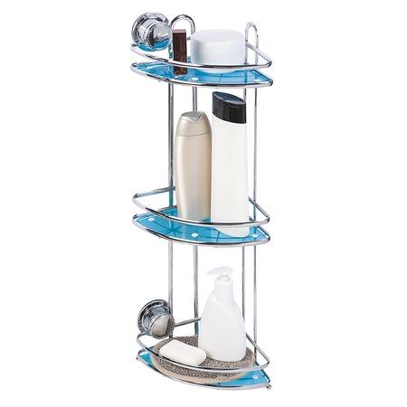 Купить Полка для ванной угловая Tatkraft Vacuum Screw Conrad 3-х ярусная