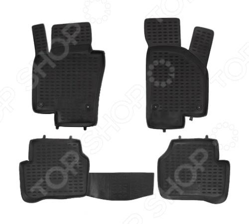 Комплект ковриков в салон автомобиля Novline-Autofamily Volkswagen Passat B7 2011-2015 коврики в салон vw passat b7 2011 2015 4 шт полиуретан