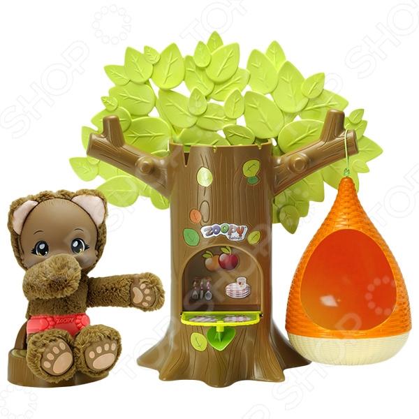 Набор игровой Zoopy «Дерево с питомцем мишкой» толстовка с мишкой худи где
