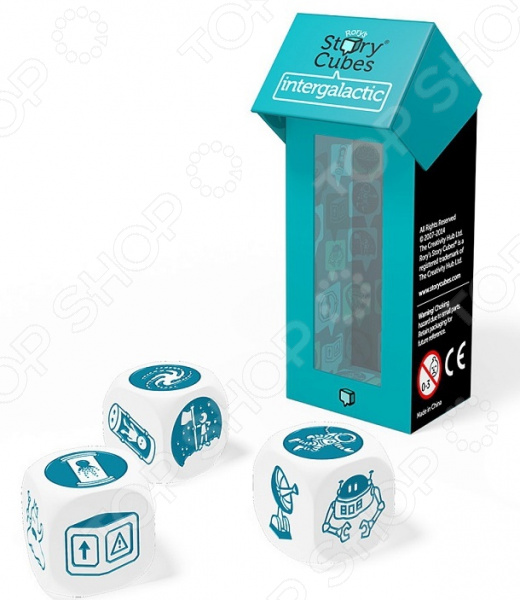 Игра настольная обучающая Rory\'s Story Cubes «Кубики историй. Космос» Игра настольная обучающая Rory\'s Story Cubes «Кубики историй. Космос» /