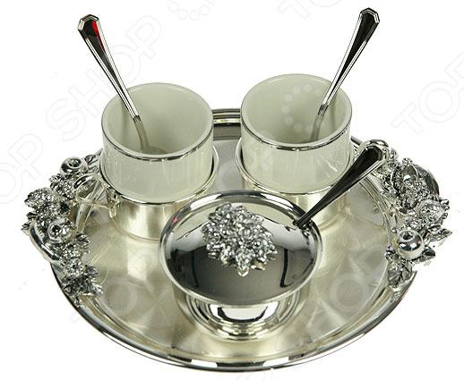 Кофейный набор подарочный Chinelli на подносе «Ты и я»