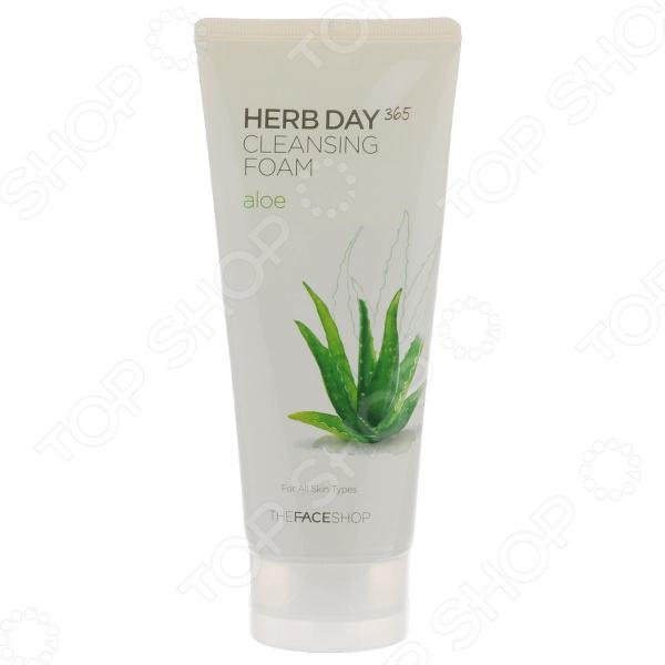 Пенка для умывания THE FACE SHOP Herb Day 365 «Алое» пенка the face shop herb day 365 cleansing foam peach объем 170 мл