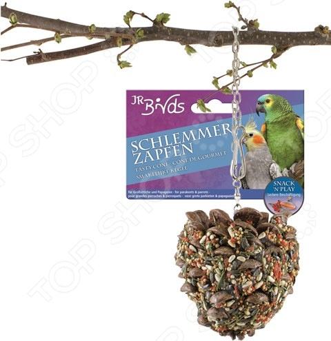 Шишка-лакомство для попугаев средних и больших размеров JR Farm Schlemmer Zapten лакомство для попугаев mr alex минералы 80 г