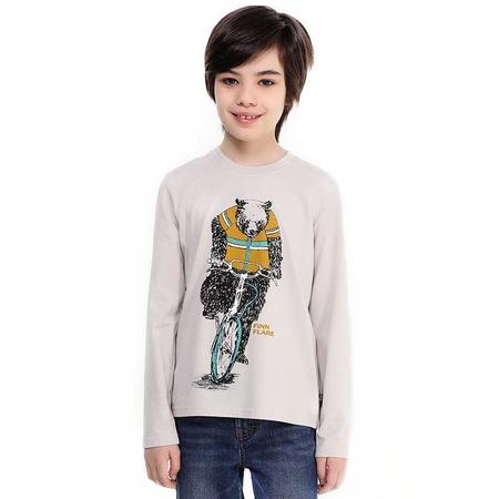 Купить Свитшот для мальчика Finn Flare Kids KB17-81026. Цвет: светло-серый