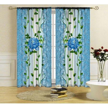 Купить Комплект фотоштор ТамиТекс «Голубой цветок»