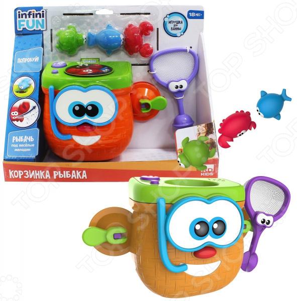 Игрушка для ванны детская Kidz Delight «Корзинка рыбака» kd group игрушка для ванны корзинка рыбака