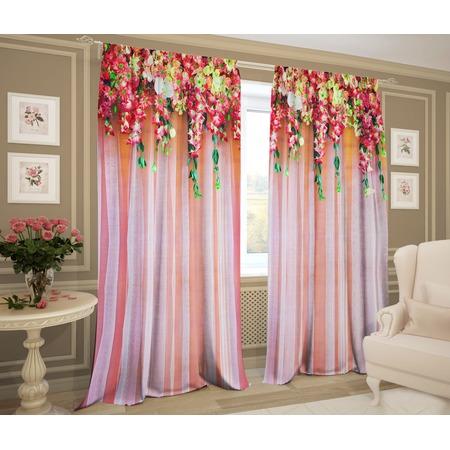 Купить Фотошторы ТамиТекс «Ламбрекен из цветов»
