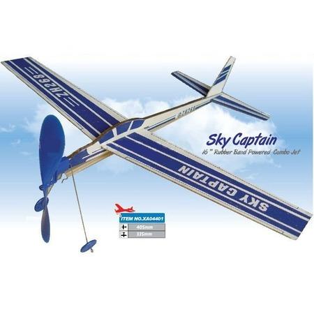 Купить Резиномоторная модель планера ZT Model «Воздушный капитан»