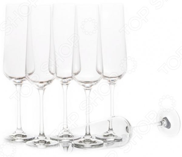 Набор бокалов для шампанского Bohemia Crystal «Сандра» 674-171 bohemia crystal набор бокалов для шампанского felina 25 см 2 шт