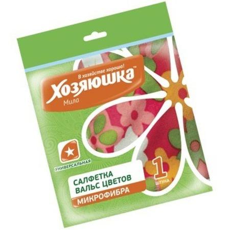 Купить Салфетка универсальная Хозяюшка «Вальс цветов» 04027. В ассортименте