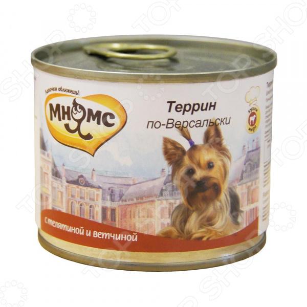 Корм консервированный для собак Мнямс «Террин по-Версальски» с телятиной и ветчиной