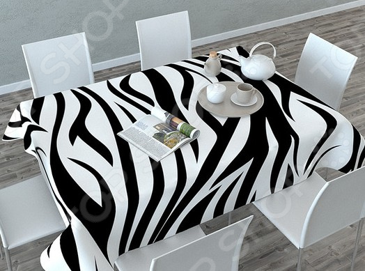Фотоскатерть Сирень «Узор-зебра»