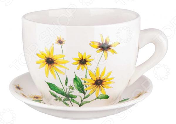 Горшок для цветов Miolla «Подсолнух». В ассортименте горшок для цветов miolla георгин в ассортименте