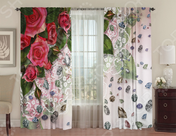 Шторы блэкаут ТамиТекс «Алмазы» шторы комнатные айлант об13