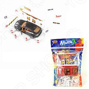Набор игровой с машинкой Yako «АЗС знаки» 1724694
