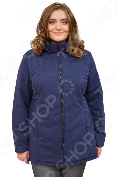 Куртка СВМ-ПРИНТ «Ласковое тепло». Цвет: темно-синий