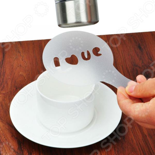 Набор трафаретов для кофе Coffe Barista Stencils