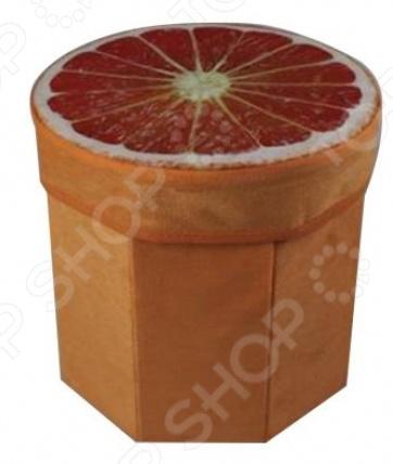 Корзина для хранения игрушек Наша Игрушка «Солнечный Апельсин»