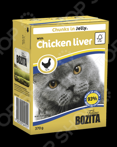 bozita Chunks in Jelly with Chicken Liver 36440