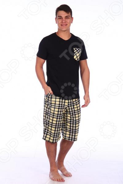 Комплект домашний мужской Селтекс КК319. Цвет: черный